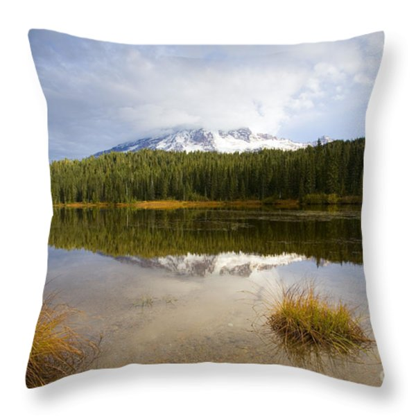 Holding Back The Tempest Throw Pillow by Mike  Dawson