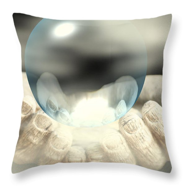 Holding Infinity Throw Pillow by Cheryl Young