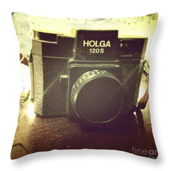 Holga Throw Pillow by Nina Prommer