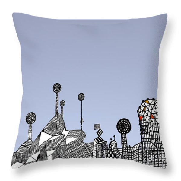 Homage To Gaudi Throw Pillow by Andy  Mercer