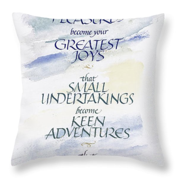 Home Blessing Throw Pillow by Judy Dodds