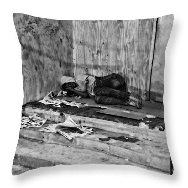 Homeless Throw Pillow by Paul Ward