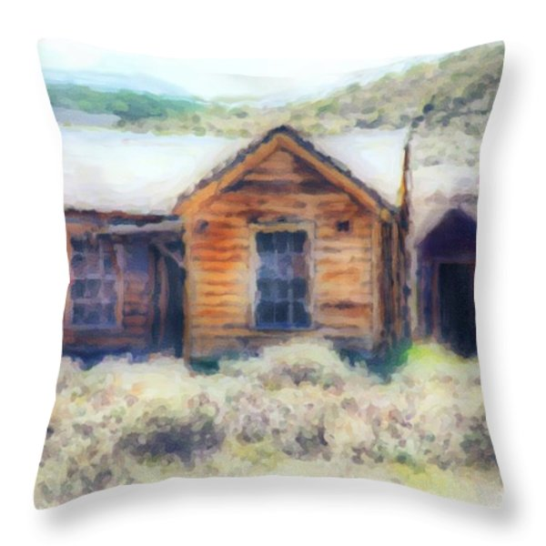 Homestead 3 Throw Pillow by Cheryl Young