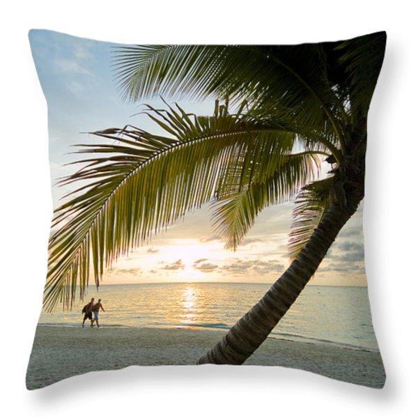 Honduras, Roatan Island,  West Bay Throw Pillow by Richard Nowitz