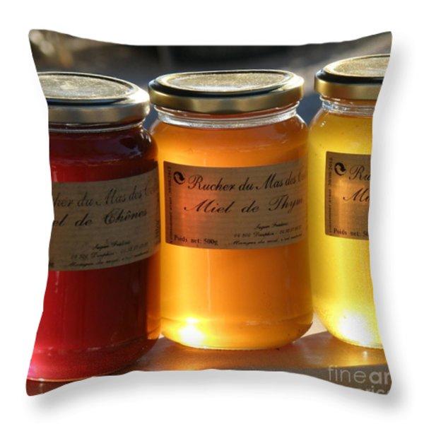 Honey Throw Pillow by Lainie Wrightson