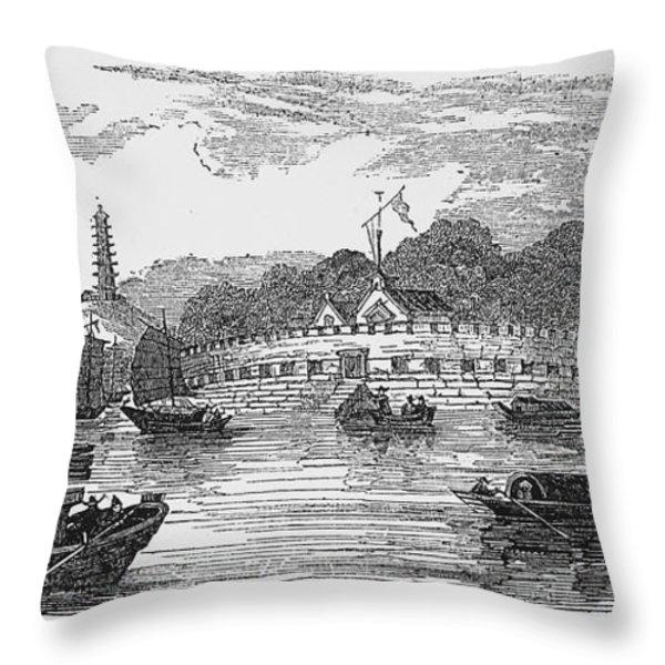 Hong Kong: Harbor, 1842 Throw Pillow by Granger
