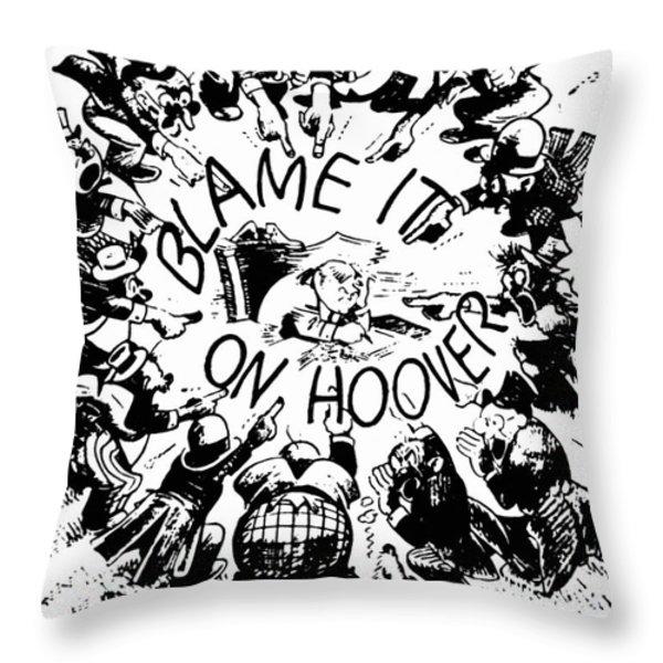 Hoover Cartoon, 1931 Throw Pillow by Granger