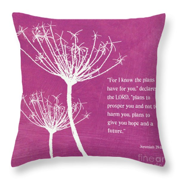 Hope And Future Throw Pillow by Linda Woods