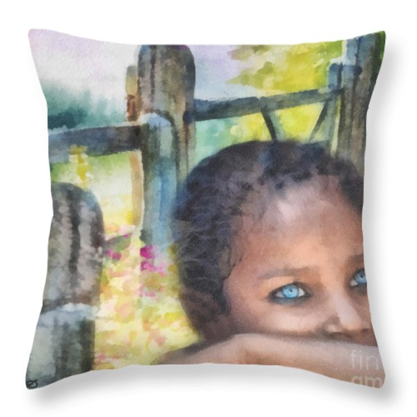 Hope Throw Pillow by Mo T