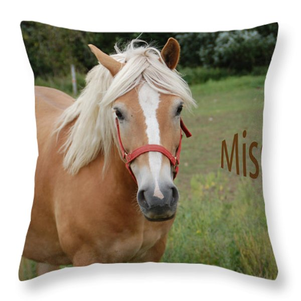 Horse Miss You Throw Pillow by Aimee L Maher Photography and Art
