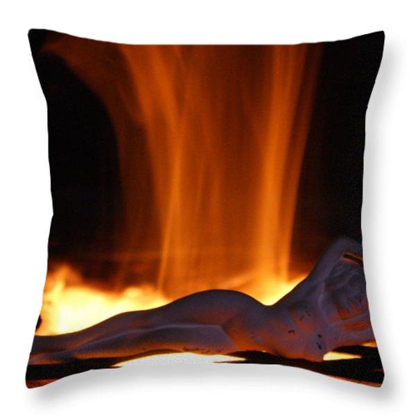 Hot Chick Throw Pillow by Jennifer  Diaz