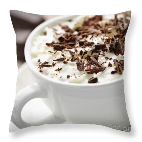 Hot Chocolate Throw Pillow by Elena Elisseeva