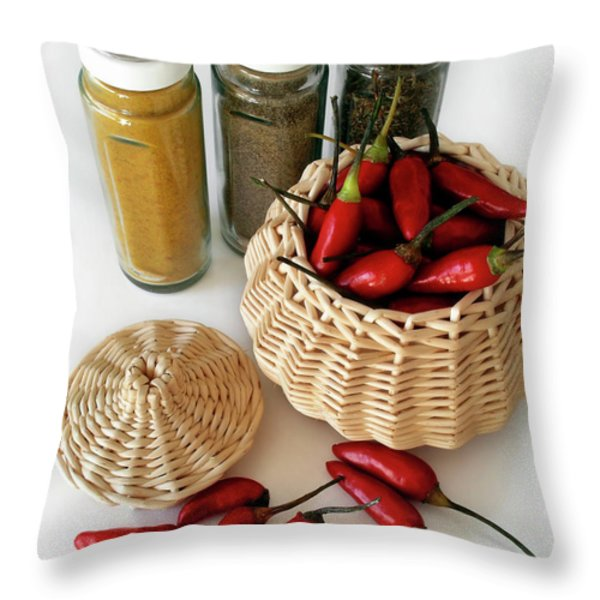 Hot Spice Throw Pillow by Carlos Caetano