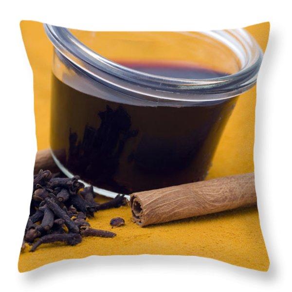 Hot spiced wine Throw Pillow by Frank Tschakert