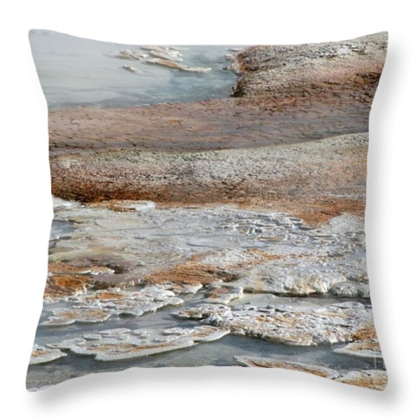 Hot Springs Abstract Two Throw Pillow by Sabrina L Ryan
