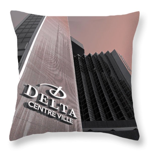 Hotel Delta - Montreal Throw Pillow by Juergen Weiss