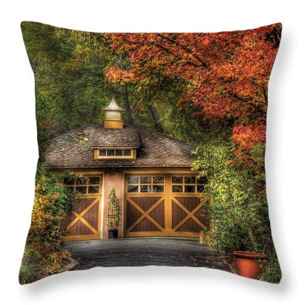 House - Classy Garage Throw Pillow by Mike Savad