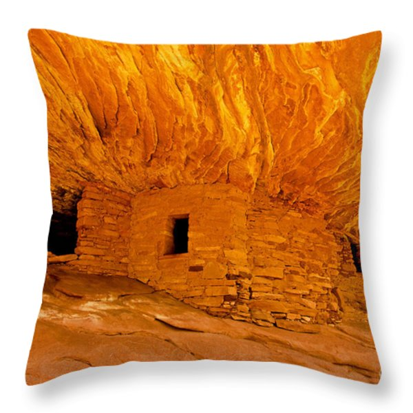House on Fire Ruin Throw Pillow by Bob and Nancy Kendrick