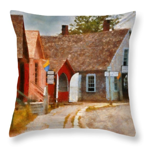 Houses - Maritime Village  Throw Pillow by Mike Savad