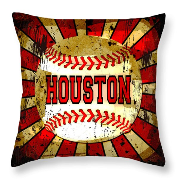 Houston Throw Pillow by David G Paul