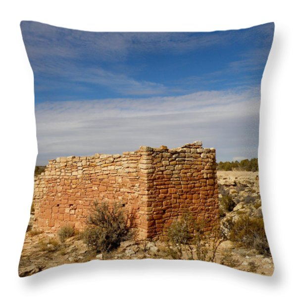 Hovenweep's Twin Towers Throw Pillow by Feva  Fotos