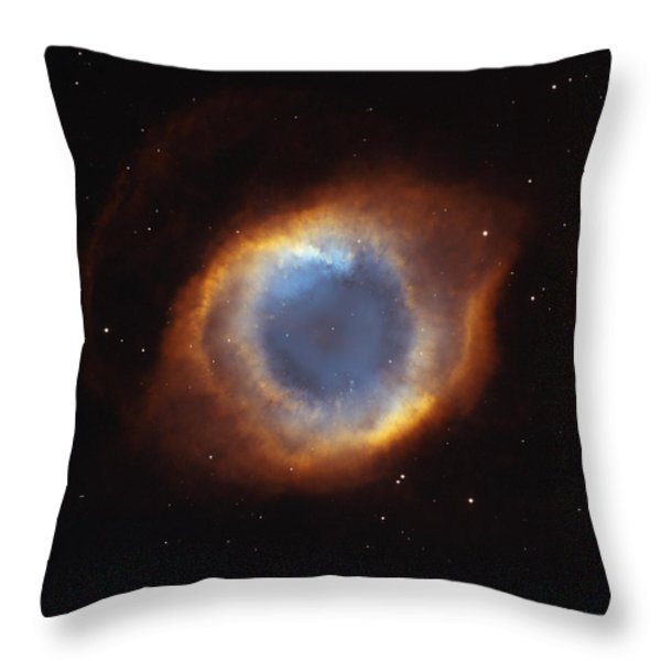 Hubble Telescope Image Of The Helix Throw Pillow by Nasa