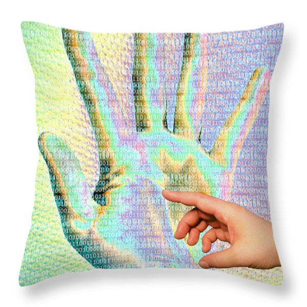 Human Touch Throw Pillow by Mailis Laos