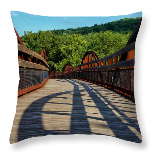 Humps And Shadows Throw Pillow by Rachel Cohen