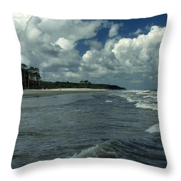 HUNTING ISLAND SURF Throw Pillow by Skip Willits