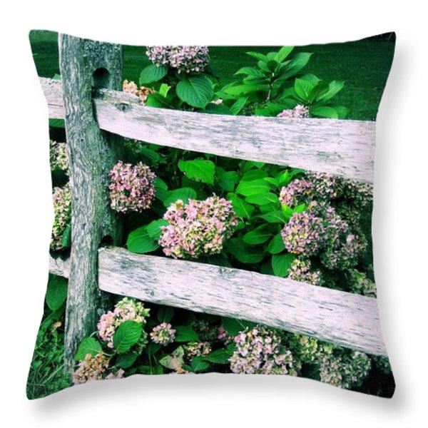 Hydrangeas Throw Pillow by JAMART Photography