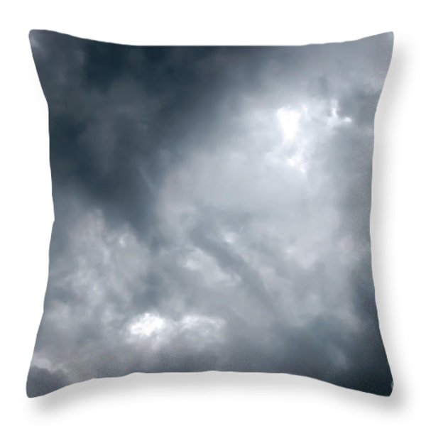 I Am No Storm Chaser Cloud Throw Pillow by Andee Design
