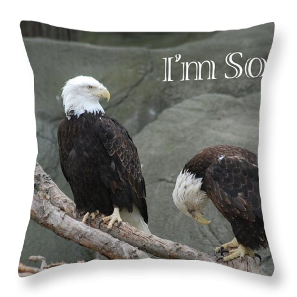 I am Sorry Throw Pillow by Michael Peychich