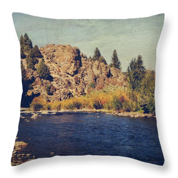 I Drift Away Throw Pillow by Laurie Search