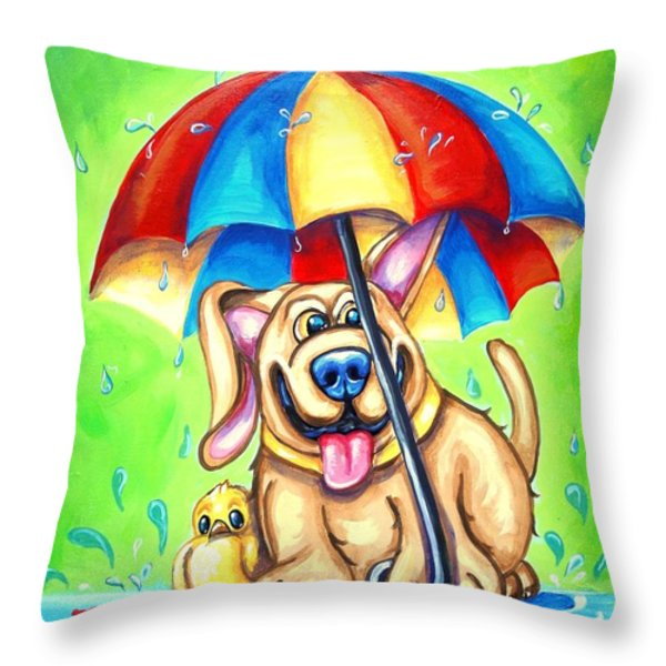I Got Your Back Throw Pillow by Sandra Lett