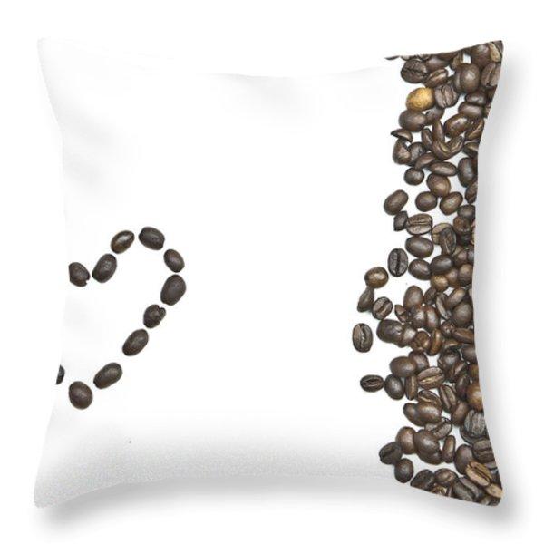 I love coffee Throw Pillow by Joana Kruse
