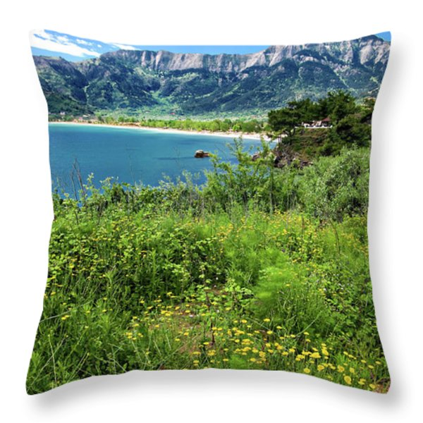 I Love The Greek Islands Throw Pillow by Meirion Matthias