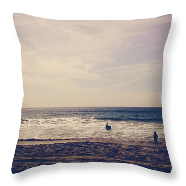I Want To Swim In The Ocean With You Throw Pillow by Laurie Search