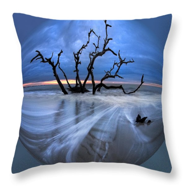 I Would Go to the Ends of the Earth for You Throw Pillow by Debra and Dave Vanderlaan