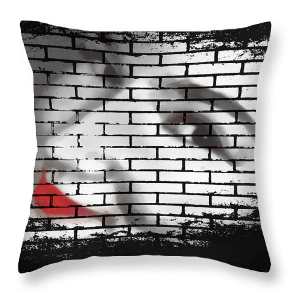 I Would Never Hurt A Fly Throw Pillow by Angelina Vick