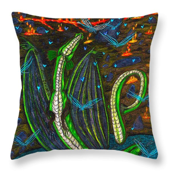 Iammyaza In His Lair Throw Pillow by Al Goldfarb