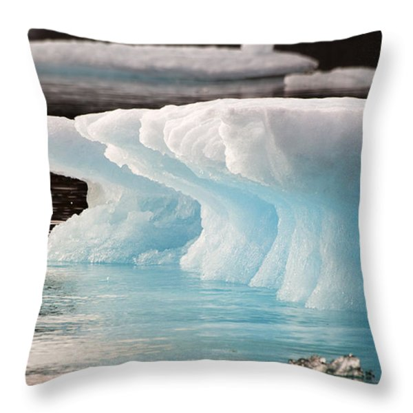Ice Bears Throw Pillow by Elisabeth Van Eyken