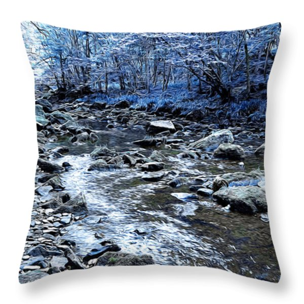 Ice Blue Forest Throw Pillow by Svetlana Sewell