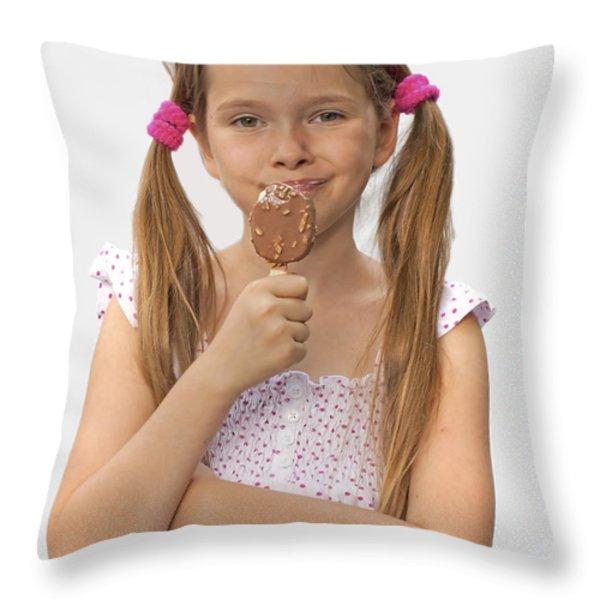 Ice cream Throw Pillow by Joana Kruse