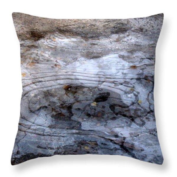 Ice Figures Throw Pillow by Pauli Hyvonen