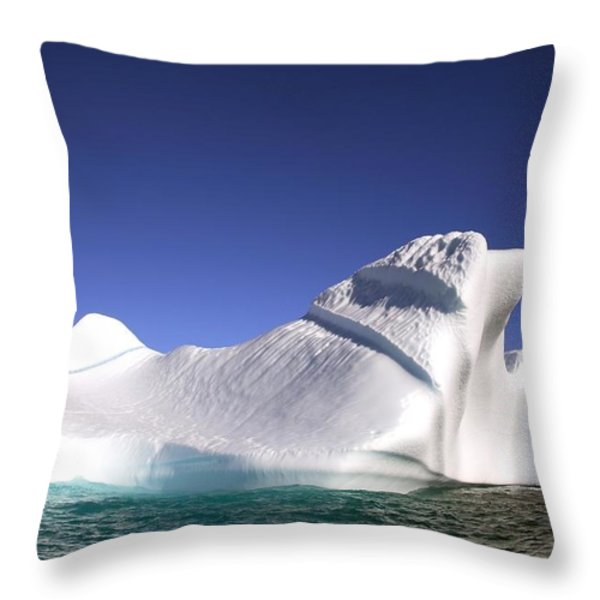 Iceberg In The Canadian Arctic Throw Pillow by Richard Wear