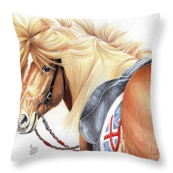 Icelandic Prince Throw Pillow by Carrie L Lewis