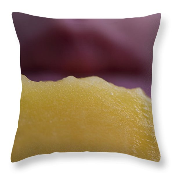 Icy Lips Throw Pillow by Clare Bambers