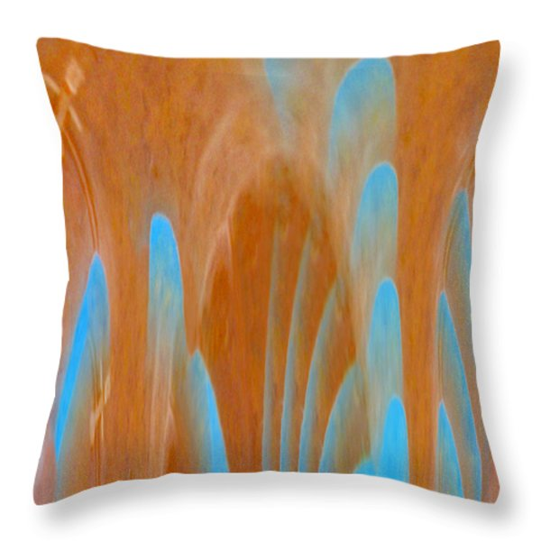 Idol Of Pomos Abstract Throw Pillow by Augusta Stylianou