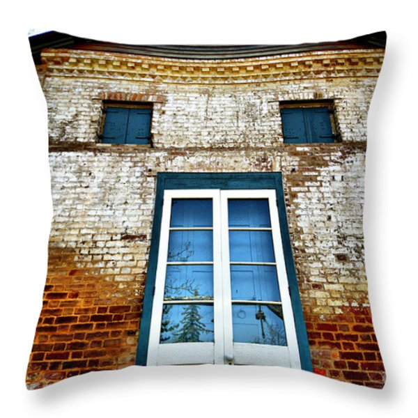 If Bricks Could Talk Throw Pillow by Cheryl Young