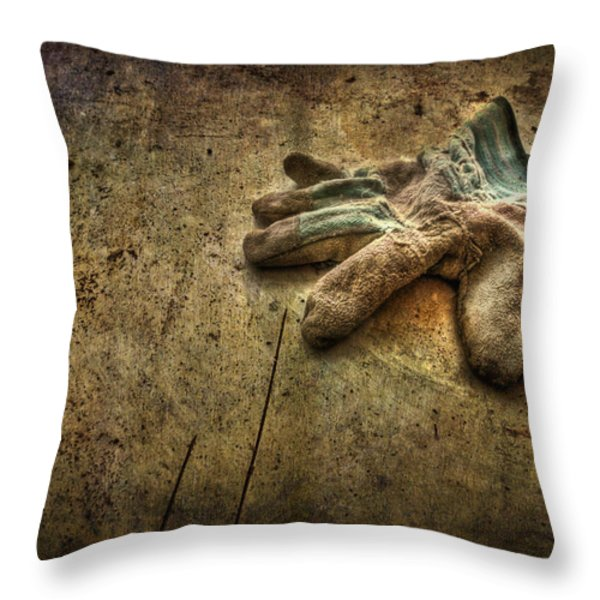 If the Glove Doesn't Fit........ Throw Pillow by Evelina Kremsdorf